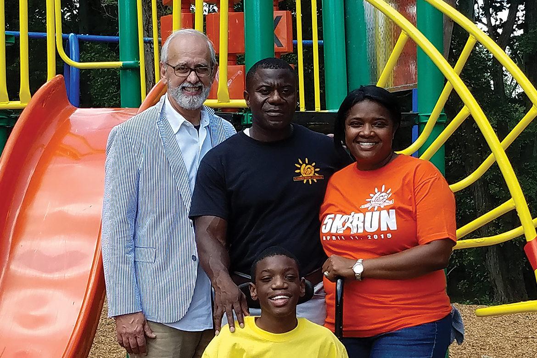 Cedric and Widza Bryant with son and donor John Sullivan