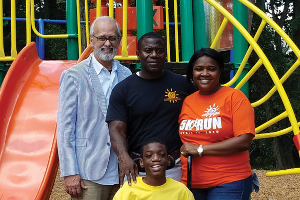 Cedric and Widza Bryant with son and donor John Sullivan